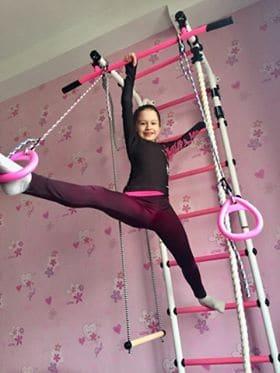 drabinka gimnastyczna Gamma Pink