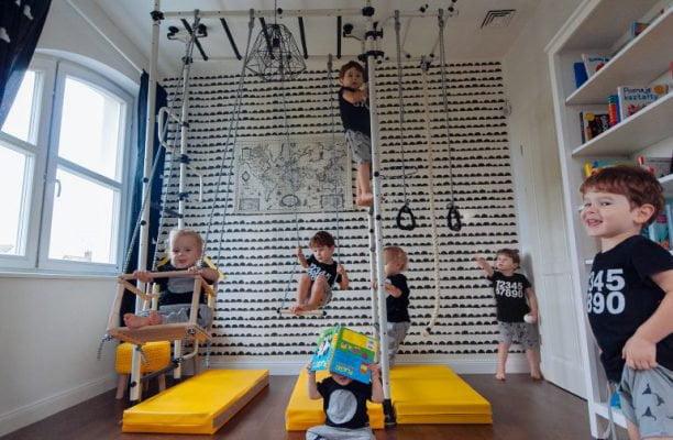 drabinka gimnastyczna w pokoju