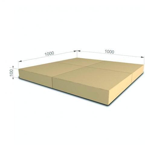 materac gimnastyczny 100x100x10cm bezowy