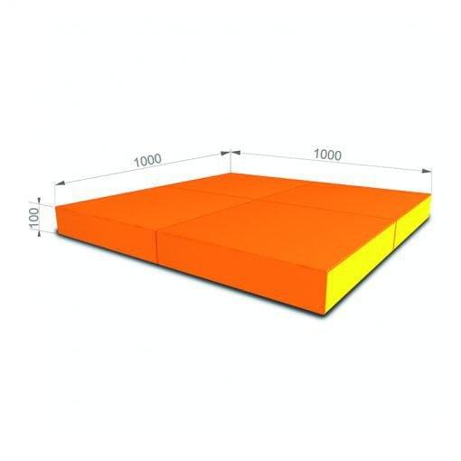 materac gimnastyczny 100x100x10cm czerwony