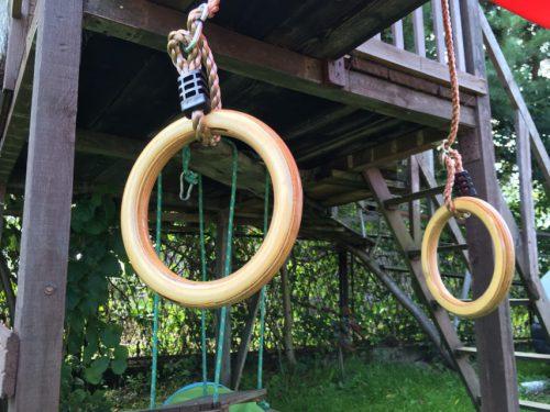 kółka gimnastyczne drewniane