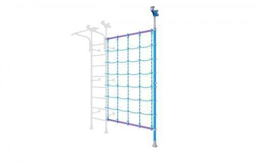drabinka gimnastyczna rozporowo-przyścienna Wallbarz z siatką linową