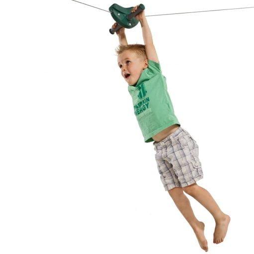 zjazd linowy do ogrodu dla dzieci na plac zabaw