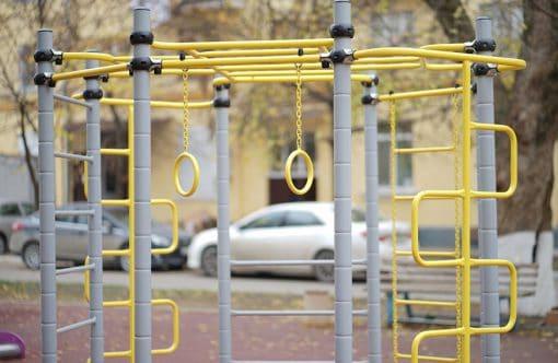siłownia_ogrodowa_Energy_3_zestaw_street_workout_dla_dzieci_szaro_zolta