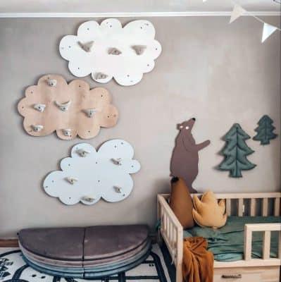 ścianka wspinaczkowa do pokoju chmurka