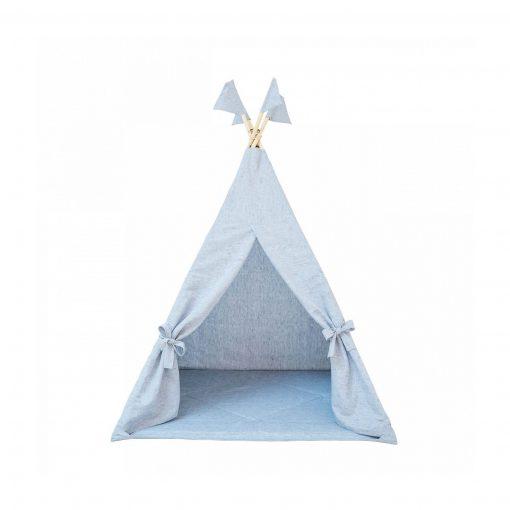 tipi namiot lniany niebieski
